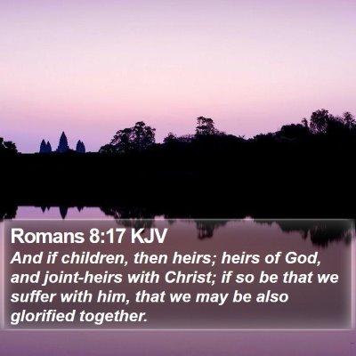 Romans 8:17 KJV Bible Verse Image