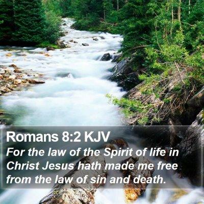 Romans 8:2 KJV Bible Verse Image