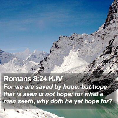 Romans 8:24 KJV Bible Verse Image