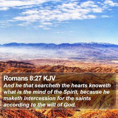Romans 8:27 KJV Bible Verse Image