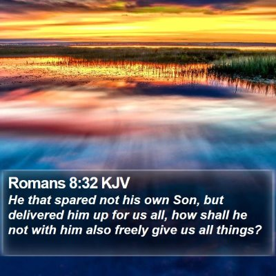 Romans 8:32 KJV Bible Verse Image