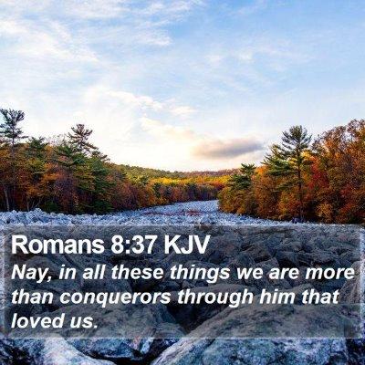 Romans 8:37 KJV Bible Verse Image