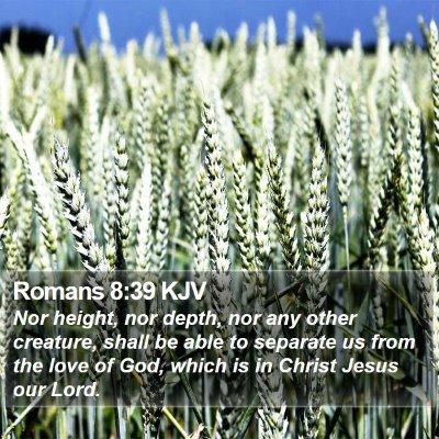 Romans 8:39 KJV Bible Verse Image