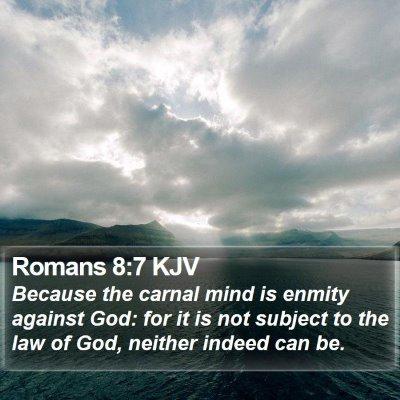 Romans 8:7 KJV Bible Verse Image