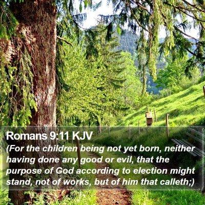 Romans 9:11 KJV Bible Verse Image
