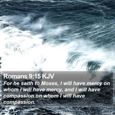 Romans 9:15 KJV Bible Verse Image