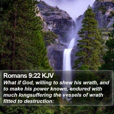 Romans 9:22 KJV Bible Verse Image