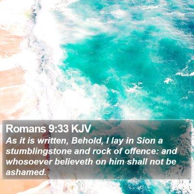 Romans 9:33 KJV Bible Verse Image