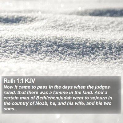 Ruth 1:1 KJV Bible Verse Image