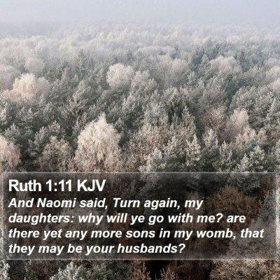 Ruth 1:11 KJV Bible Verse Image