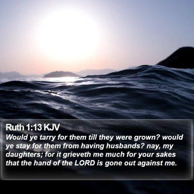Ruth 1:13 KJV Bible Verse Image