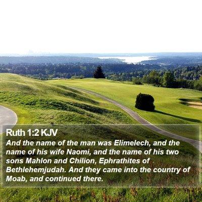 Ruth 1:2 KJV Bible Verse Image