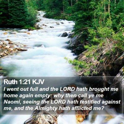 Ruth 1:21 KJV Bible Verse Image