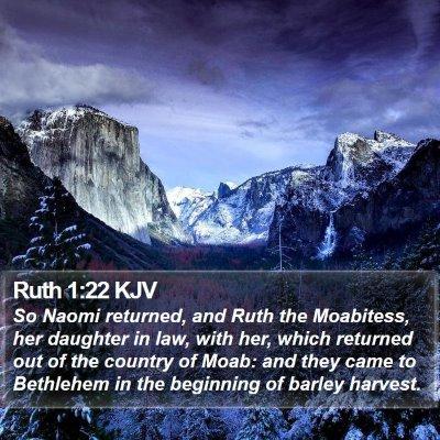 Ruth 1:22 KJV Bible Verse Image