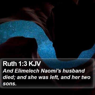 Ruth 1:3 KJV Bible Verse Image