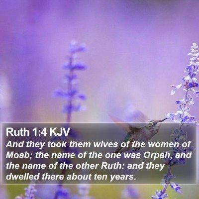 Ruth 1:4 KJV Bible Verse Image