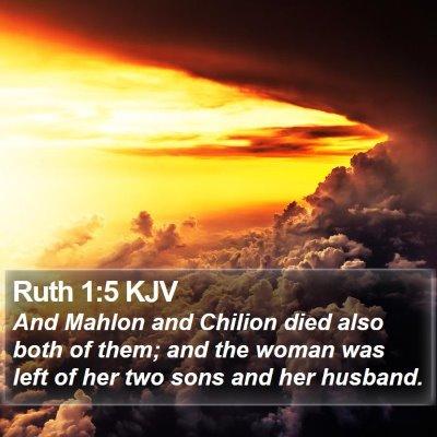 Ruth 1:5 KJV Bible Verse Image