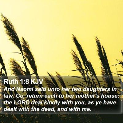 Ruth 1:8 KJV Bible Verse Image