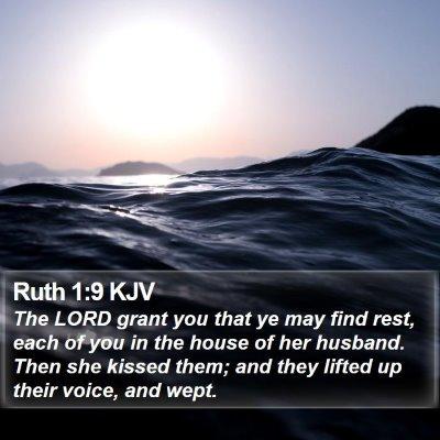 Ruth 1:9 KJV Bible Verse Image
