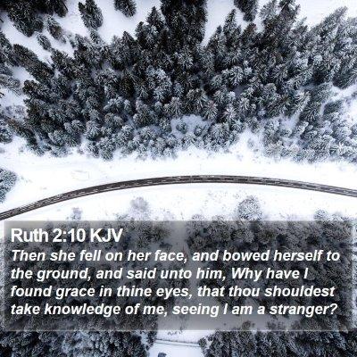 Ruth 2:10 KJV Bible Verse Image