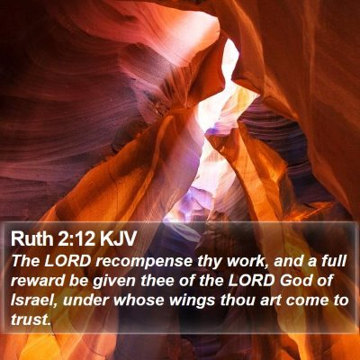 Ruth 2:12 KJV Bible Verse Image