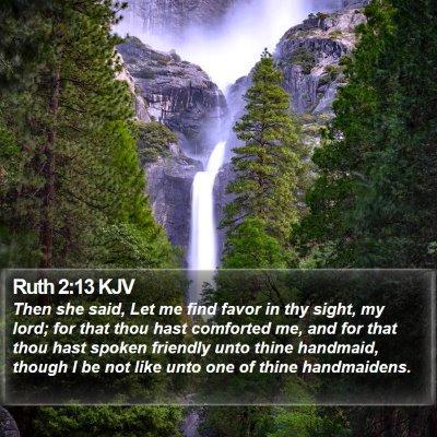 Ruth 2:13 KJV Bible Verse Image