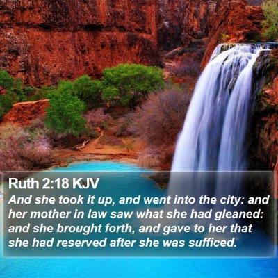 Ruth 2:18 KJV Bible Verse Image