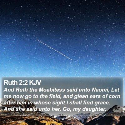 Ruth 2:2 KJV Bible Verse Image