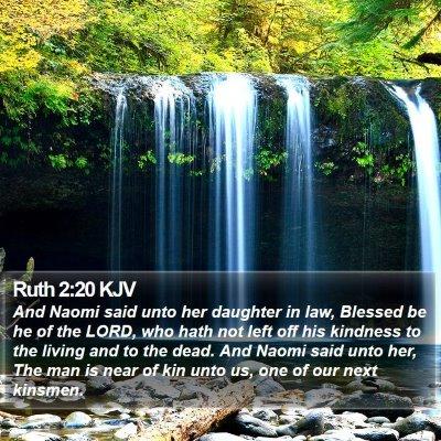 Ruth 2:20 KJV Bible Verse Image