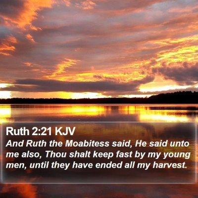 Ruth 2:21 KJV Bible Verse Image