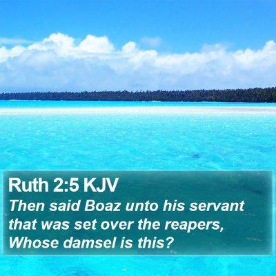 Ruth 2:5 KJV Bible Verse Image