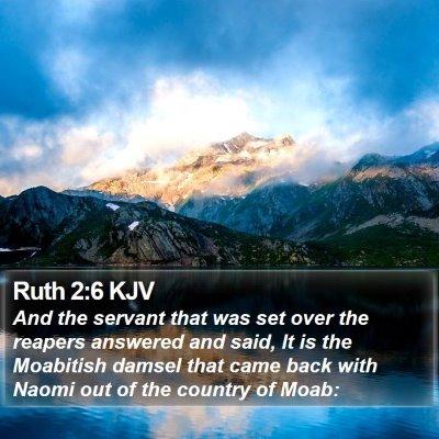 Ruth 2:6 KJV Bible Verse Image