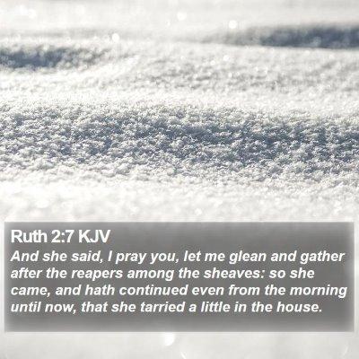 Ruth 2:7 KJV Bible Verse Image
