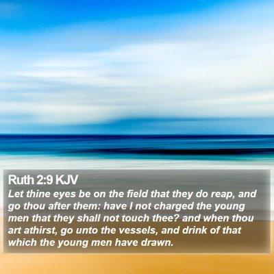 Ruth 2:9 KJV Bible Verse Image