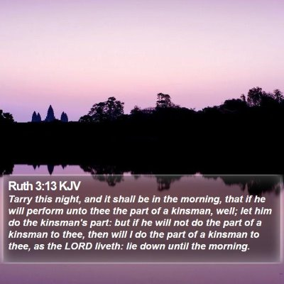 Ruth 3:13 KJV Bible Verse Image