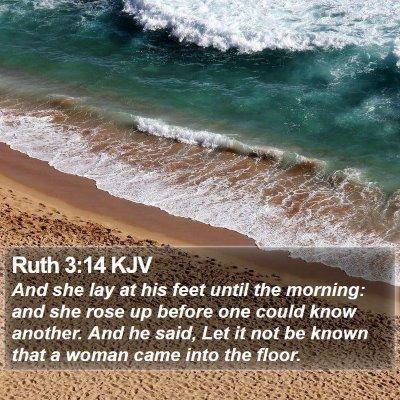 Ruth 3:14 KJV Bible Verse Image