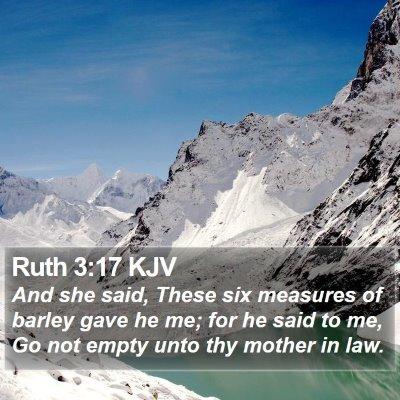 Ruth 3:17 KJV Bible Verse Image