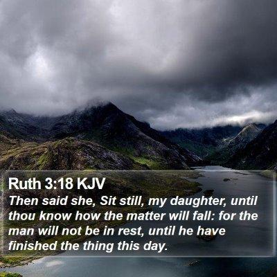 Ruth 3:18 KJV Bible Verse Image