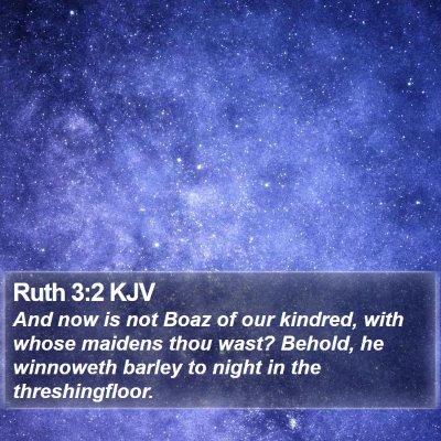 Ruth 3:2 KJV Bible Verse Image