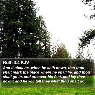 Ruth 3:4 KJV Bible Verse Image