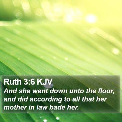 Ruth 3:6 KJV Bible Verse Image