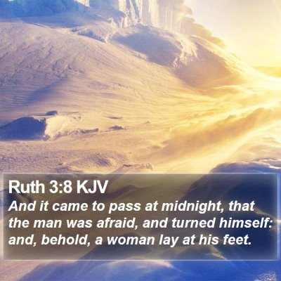 Ruth 3:8 KJV Bible Verse Image