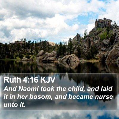 Ruth 4:16 KJV Bible Verse Image