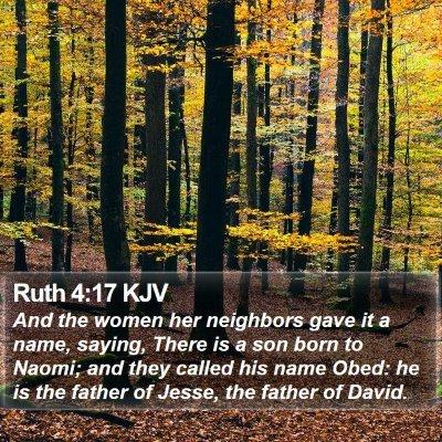 Ruth 4:17 KJV Bible Verse Image