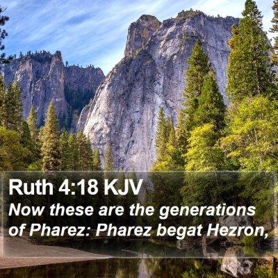 Ruth 4:18 KJV Bible Verse Image