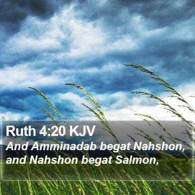 Ruth 4:20 KJV Bible Verse Image