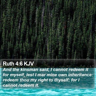 Ruth 4:6 KJV Bible Verse Image