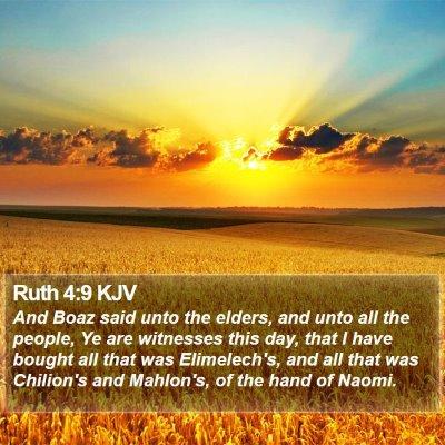 Ruth 4:9 KJV Bible Verse Image