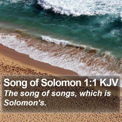 Song of Solomon 1:1 KJV Bible Verse Image