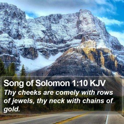 Song of Solomon 1:10 KJV Bible Verse Image